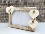 Shabby personalised Chic Photo Frame In Memory Of A Husband ~ Loved One Any Name - 332867332453